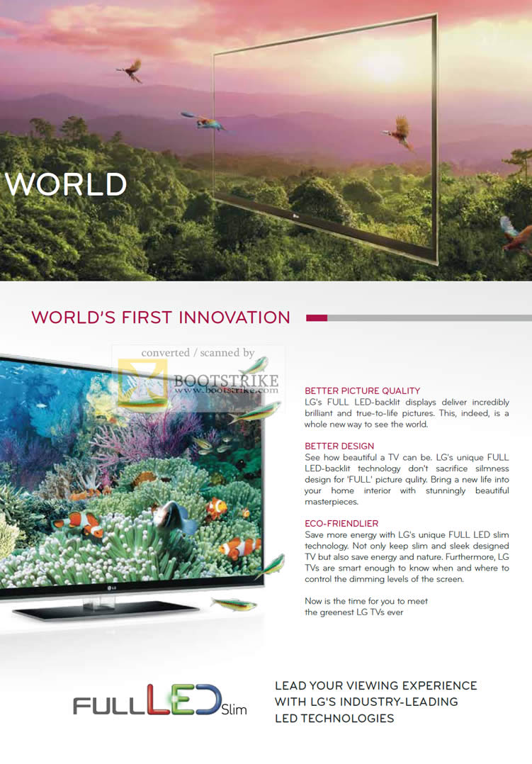 PC Show 2010 price list image brochure of LG Full LED Backlit Technology