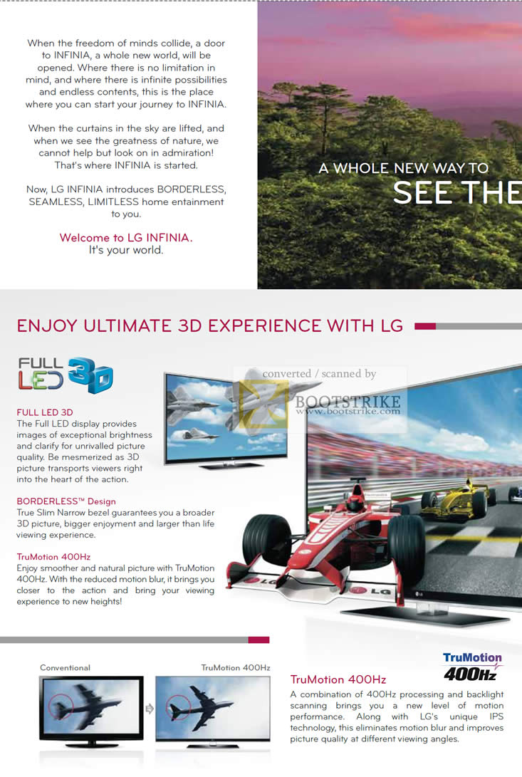 PC Show 2010 price list image brochure of LG Infinia Full LED 3D Borderless TruMotion 400Hz