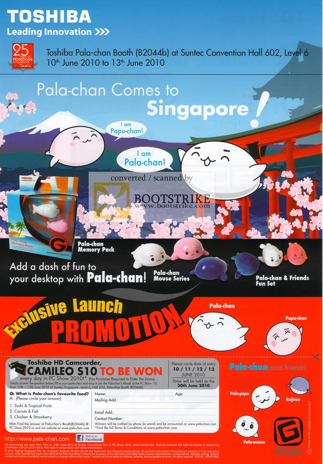 PC Show 2010 price list image brochure of Mclogic Toshiba Pala Chan Mouse Fun Set Memory Pack Papu Papa Kujiran Mama