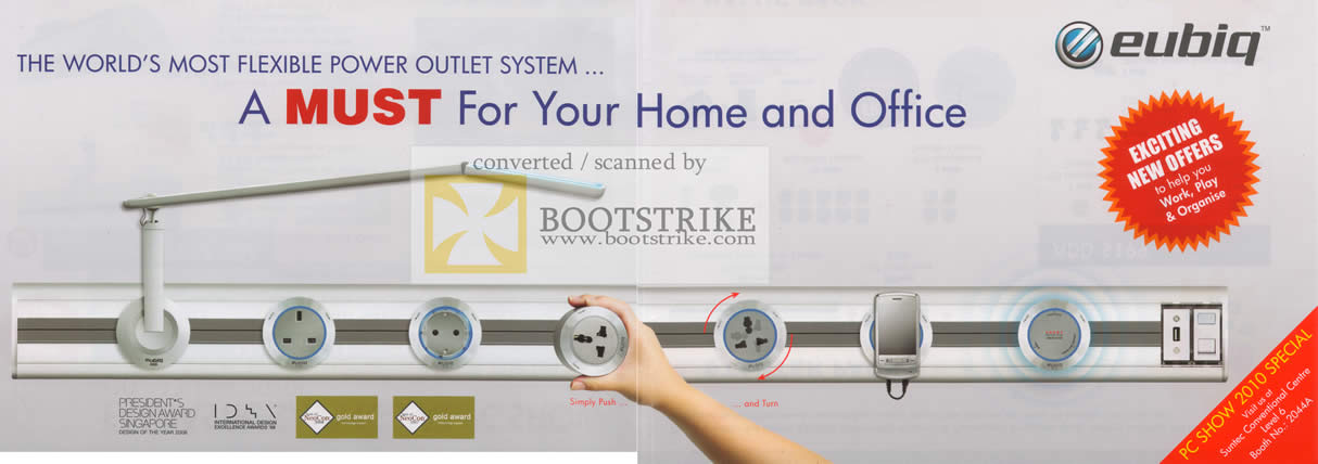 Flexible Power Outlet System Power Outlet System Push