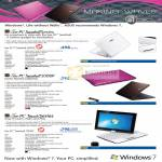 Netbooks EEE PC Seashell 1001PX 1008P T101MT PC Touch
