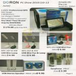 Doron GPS E4301 Mapking USB Mini Lamp Fan MFL 507 508 503 Stereo Speaker Earphone