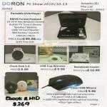 Portable DVD Player RMVB Clock Hub USB Cup Warmer Notebook Cooler USB Mouse