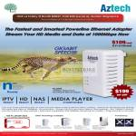 Aztech Gigabit Powerline HL280E HomePlug Ethernet Adapter