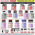 Bizgram Asia Sandisk USB Flash Drive Cruzer Blade Slice Ultra Micro SD SDHC Extreme M2 CF Compact Flash Pro MS Duo
