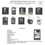 Technologies Mobile Phones TianXing X10 A828 A338 M009 8900 W1210 9700 W007 X6 EG200 MQ007