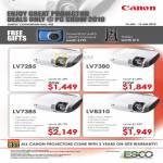 Canon Projectors LV7285 LV7380 LV7385 LV8310