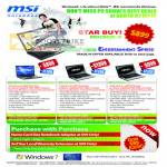 Corbell MSI Notebooks CR420 I3 CX420 I5 I3