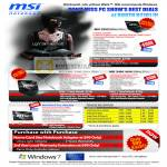 MSI Notebooks X360 X400 7300 9600 Wind Top AE2220 Trade In