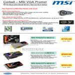 MSI VGA Graphic Cards N480GTX M2D15 N470GTX M2D12 N465GTX M2D1G