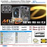 Seasonic M12D 750W 850W Power Supply PSU