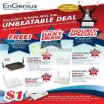Engenius Lucky Draw Wireless N Gigabit Router ESR9855G ETR9350 ESR6650 ERB9250 USB Adapter EUB 9703