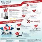 Engenius Wireless Router Business EOC1650 ESR9753 ESR9850 ESR 1221EXT USB Adapter EUB9603H EUB9707 EUB9603 N