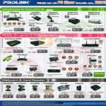 Prolink Wireless N Router PWH2004 WN2000 USB Adapter ADSL Modem Hurricane Webcam PCC3220 Card Reader