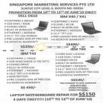 Services Notebooks Dell D610 IBM X40 IBM T43 T60