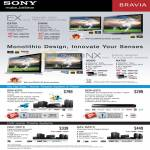 Bravia NX800 NX700 EX700 EX600 Edge LED TV Blu Ray Home Theatre System Player BDV E370 S370 DAV