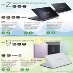 Sony Vaio Notebooks Z VPCZ127GG VPCZ116GG VPCZ115GG S VPCS117GG VPCS115FG