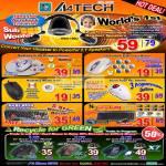 A4Tech Laser Mouse Headset Speakers HSB 100U Wireless Noiseless Keyboard Trade In X7 Oscar Anti Vibrate
