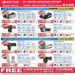 Aiptek Camcorders AHD H12 Extreme Z800 H5 T7 Pro 1 Pro H220 HD PenCam Trio C100