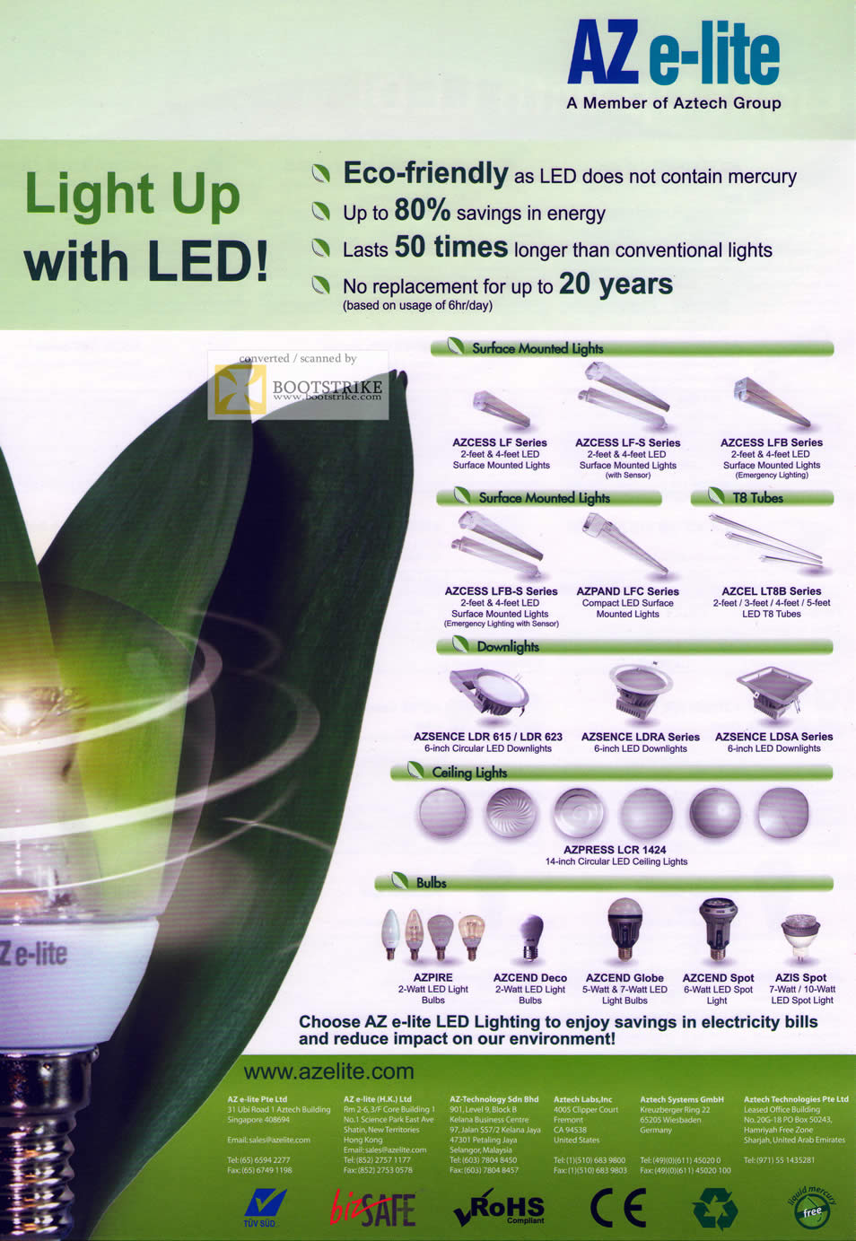PC Show 2011 price list image brochure of Convergent Aztech AZ E-Lite LED Bulbs Eco Friendly