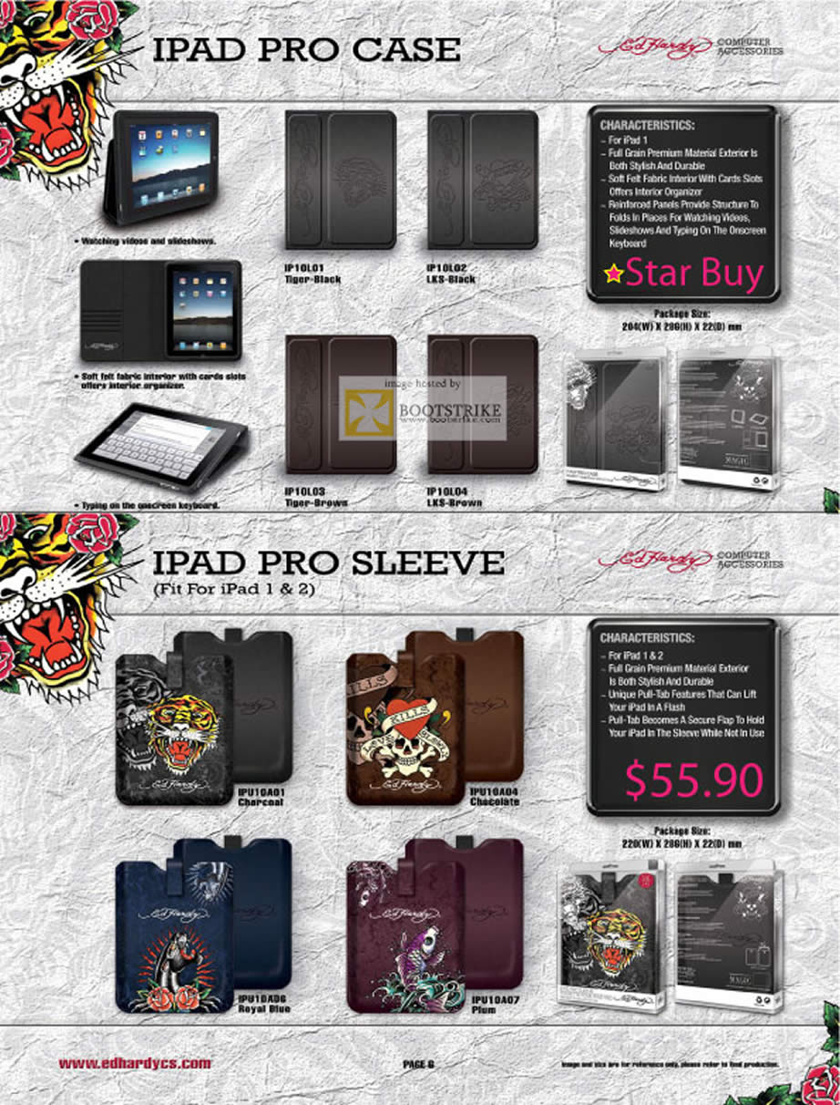 PC Show 2011 price list image brochure of Convergent Ed Hardy IPad Pro Case Sleeve