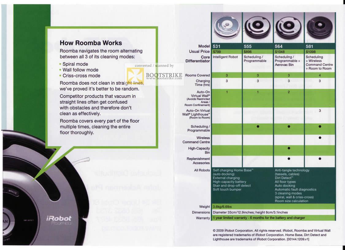 John Ackerman Irobot Roomba How It Works Comparison Chart