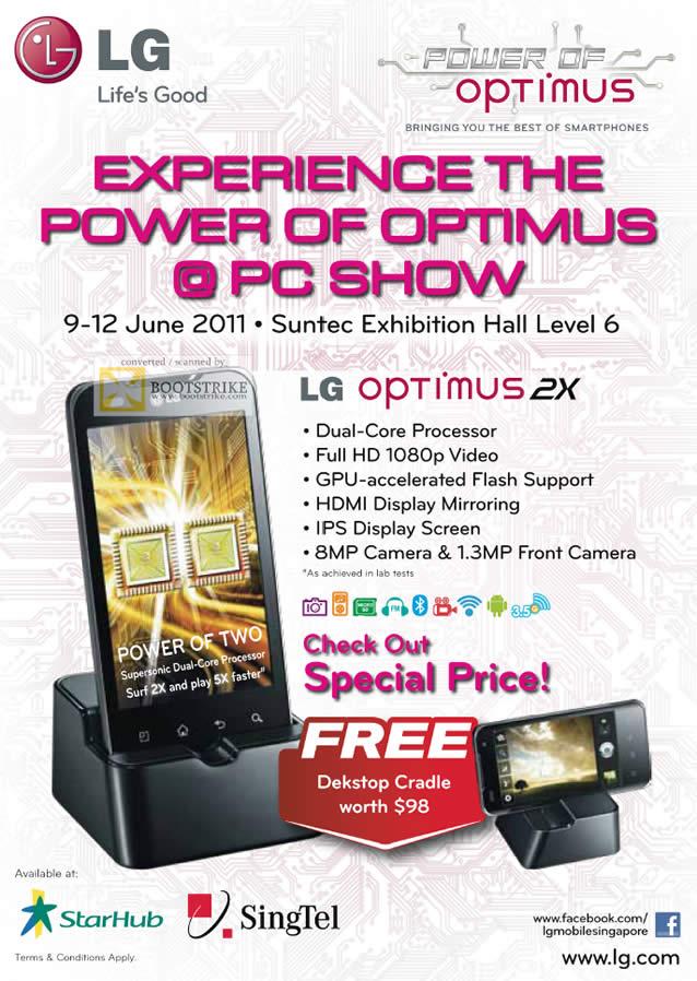 PC Show 2011 price list image brochure of LG Mobile Phone Optimus 2X Smartphone Dual Core GPU