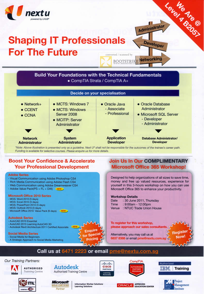 NTUC Nextu Training CCENT CCNA MCTS MCITP Oracle Java SQL ...