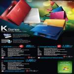 Notebooks K Series K43SJ29i5 K43Sv29i7I64D7PM 3Y K43Sv29i7H64BC7PM 2V3Y IceCool