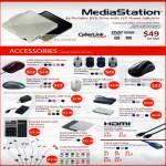 MediaStation External DVD Accessories Mouse LED Bluetooth Wireless USB Hub Keypad IPad Case Earphone Card Reader