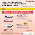 Projectors LV 7290 8310