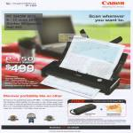 Scanner P-150 Document Free Gifts USB Powered