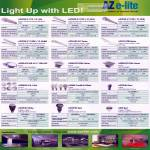 Aztech AZ E-lite LED Lightings Specifications Azpire Azpress Azcend Azis Azcess Azpand Azcel Azence