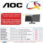 AOC LED Monitors E940SW E2040V E2240VW E2440VH E2243FW E2343F E2343F2K