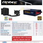 Antec Power Supply Unit PSU VD450P 80Plus HCP TP Kuhler Liquid CPU Cooler Accessories TricCool SmartCool Fan PWN