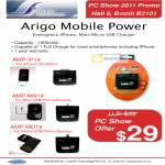 Arigo Mobile Power AMP-IP19 MN19 MO19 IPhone USB Micro Charger