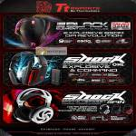 Thermaltake Tt ESPORTS Black Element Gaming Mouse Shock One Spin Headset