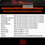 Thermaltake Tt ESPORTS Purchase With Purchase Meka G1 Challenger Black Azurues Shock Conkor