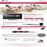 HSBC Cinema 3D TV LW6500 LW5700 Free Vacuum Cleaner Portable DVD Player Soundbar Blu Ray HLX56S