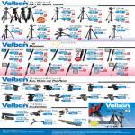 Velbon Tripods CX DF VPod Geo Pod Ultra Stick Rup PH QHD PHD FHD Accessories Umbrella Clamp Super Mag Slider Kit Mag Plate