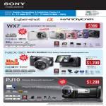 Digital Cameras Cybershot DSC WX7 NEX-5D HDR PJ10 Handycam Camcorder Exmor