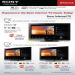 Internet TV Bravia EX420 CX520 CX Series EX Series X-Reality