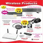 System Tech Ranger Wireless Bluetooth Keyboard Headphone Router 11n USB Adapter Symphony 380
