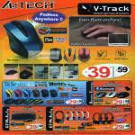 A4Tech Mouse Padless Anywhere G9-500F V-Track Glass Run G9310 G9350 Bluetooth Wireless BT-630 G7 GL-6630 L-600 HS-19 Headset Keyboard