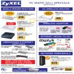 ZyXEL Networking ADSL2 Modem Router 3G Wireless Adapter Switches Muzyk DMA2501 Media Streamer Business ZyWALL USG Security