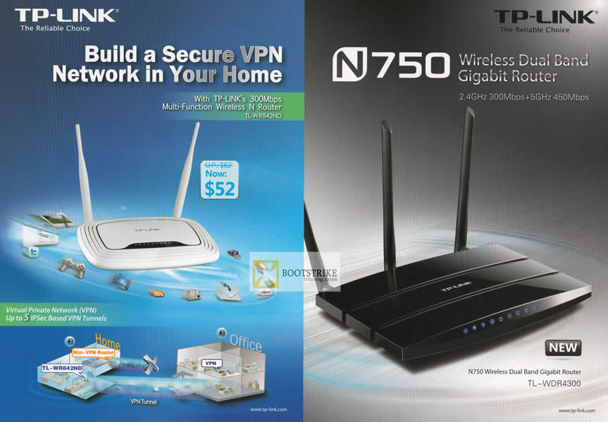 PC SHOW 2012 price list image brochure of Asia Radio TP-Link Networking Router TL-WR852ND, TL-WDR4300
