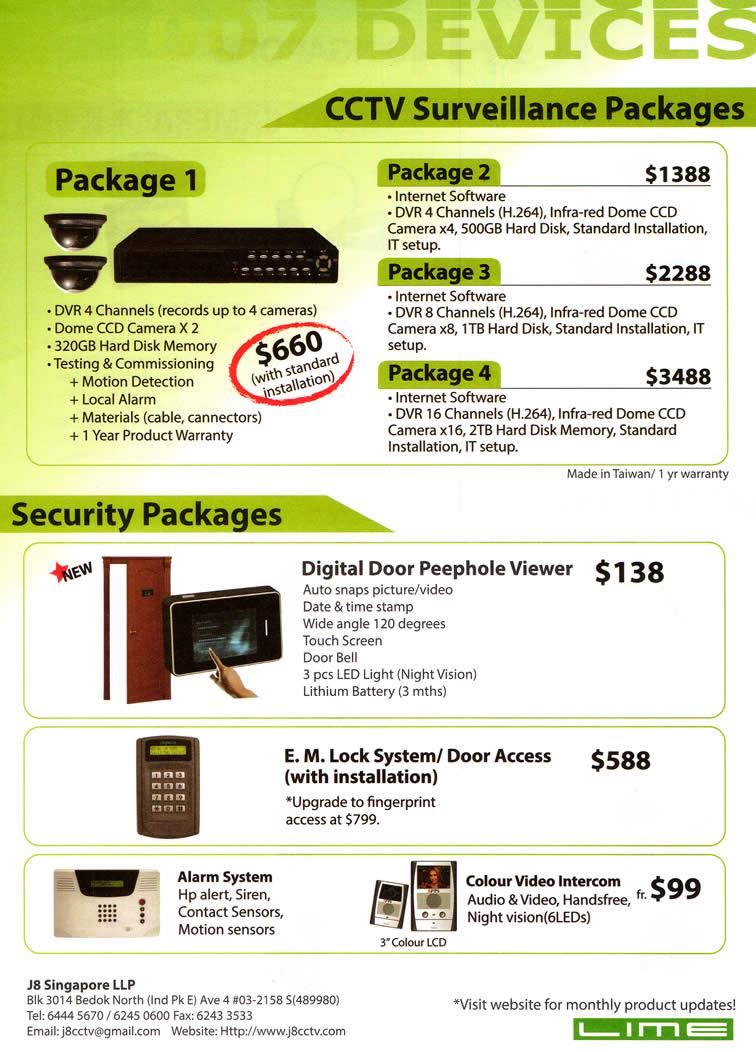 J Eight Cctv Surveillance Packages Security Digital Door