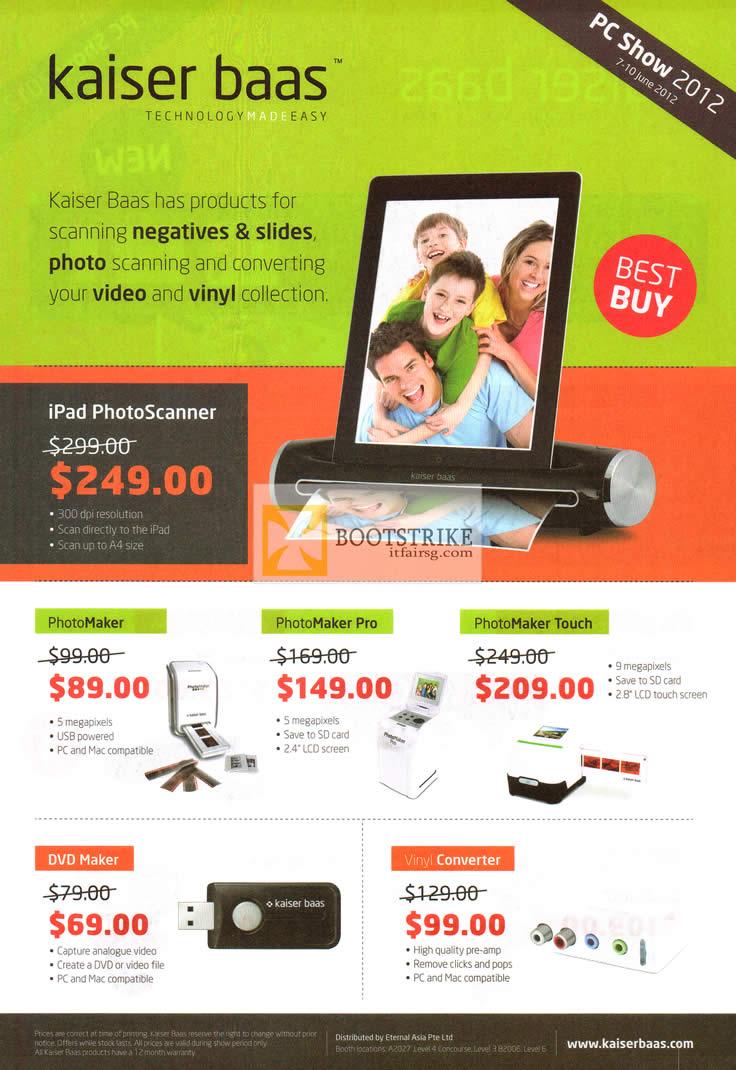 PhotoMaker (Slide Negative Scanner) Kaiser Baas Support Kaiser baas photo maker pro