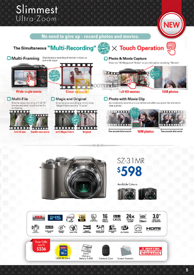PC SHOW 2012 price list image brochure of Olympus Digital Camera SZ-31 MR