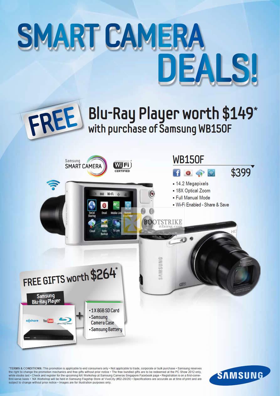 PC SHOW 2012 price list image brochure of Samsung Digital Cameras WB150F
